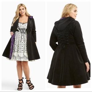 Torrid Nightmare before Christmas lace back trench